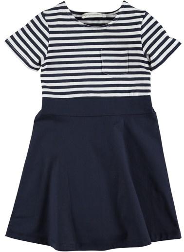 Çizgili Örme Elbise-Asymmetry